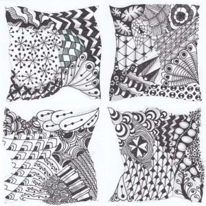 4 Zentangles