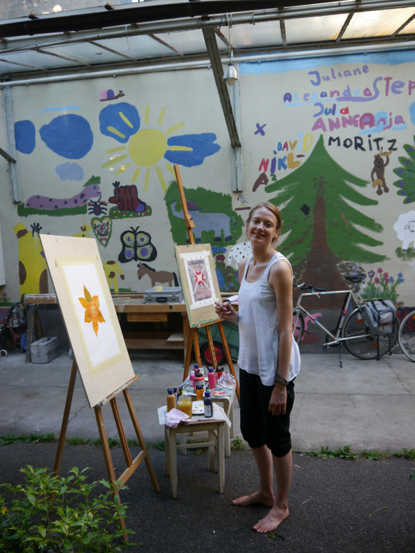 Christiane beim Malen